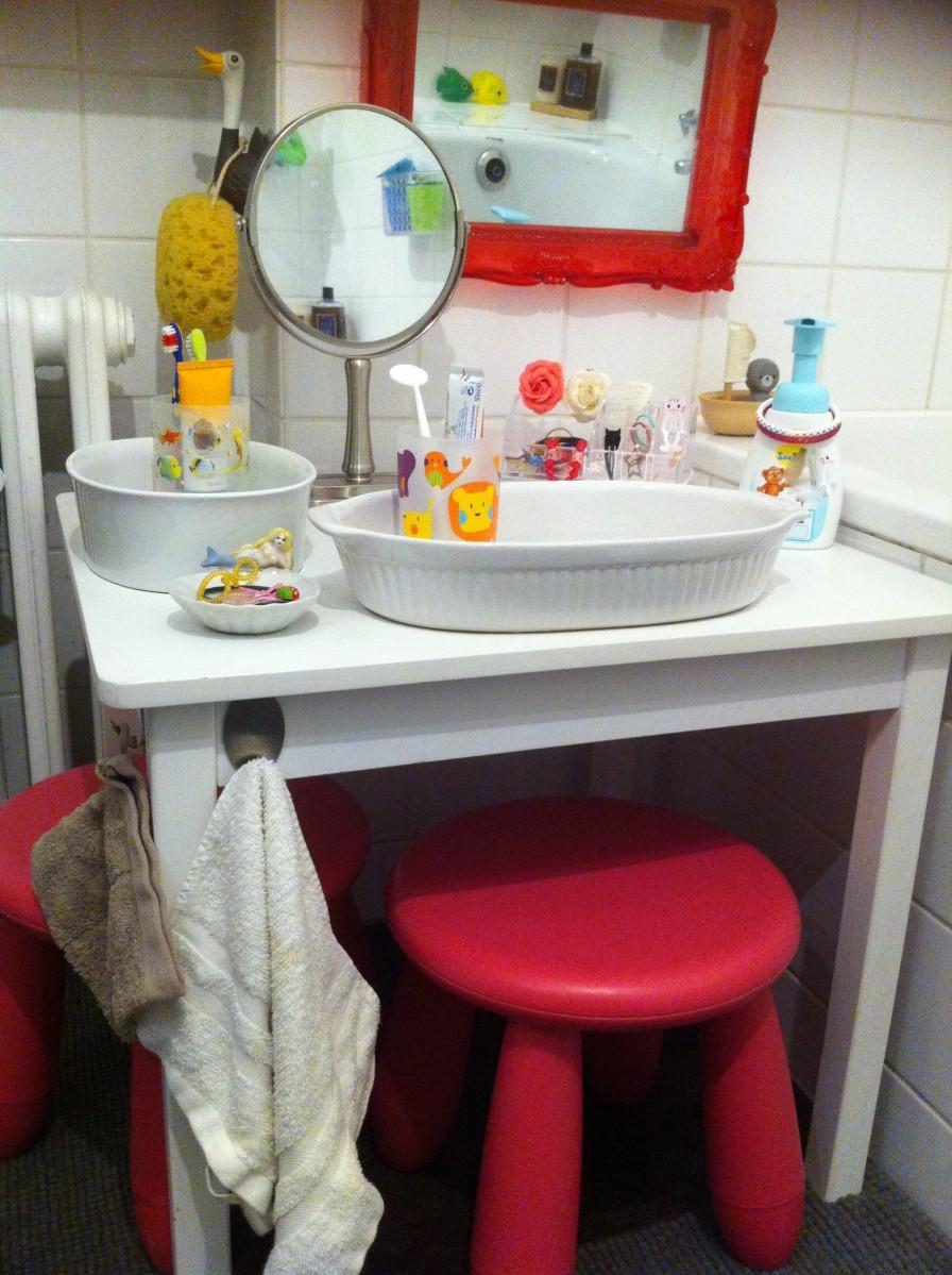 Waschen auf Muckisch                          (Wieder mal Montessori bei uns)